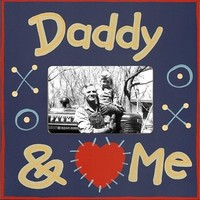 Daddy And Me Picture Frame