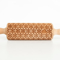 SNOWFLAKE kids - embossing rolling pin for kids, small laser engraved rolling pin. Valek KIDS! Kids' toys!