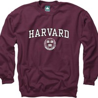 Harvard University Crest Crewneck Sweatshirt (Crimson)