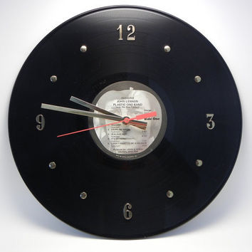 JOHN LENNON Vinyl Record Wall Clock Imagine by recordsandstuff on ETSY