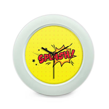 Splash Comic Sound Quirky Illustration Table Clock
