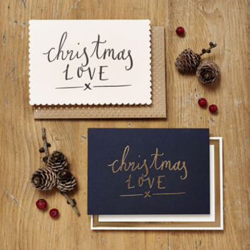 Pack Of Six Christmas Love Cards