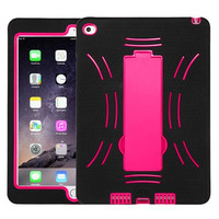 Apple iPad Air 2 Asmyna Hot Pink/Black Symbiosis Stand Case Cover