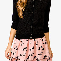 3/4 Sleeve Lace Sweater
