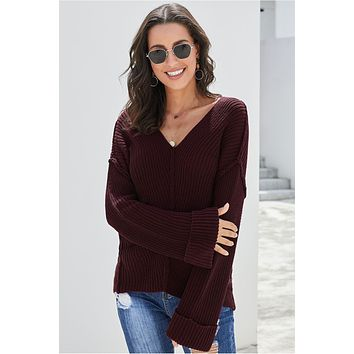 Collins Ribbed Slouchy Pullover Sweater