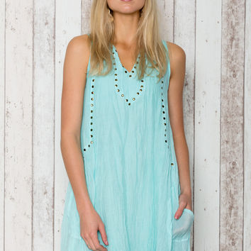 Sangria Sleeveless Dress in Mist