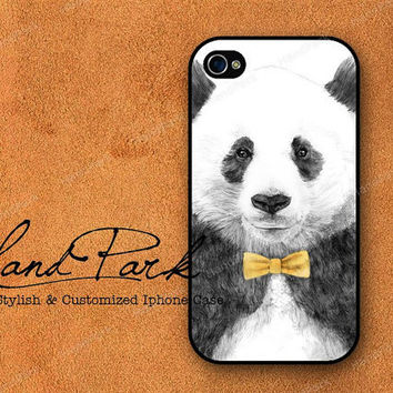 Mr Panda iPhone 4 Case iPhone 4s Case iPhone Case by HandPark