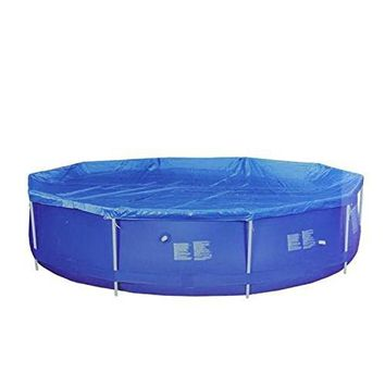 By PoolCentral 14.25' Durable Blue Apertured Round Swimming Pool Cover with Rope Ties