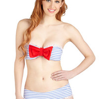 ModCloth Nautical Strapless Sun-Soaked Shoreline Swimsuit Top