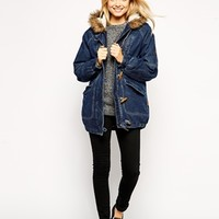 Bellfield Denim Duffle Coat