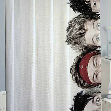 5 sos 5 second of summer eyes shower curtain