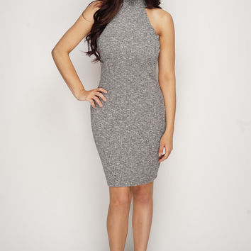 Tricia Knit Dress - Grey