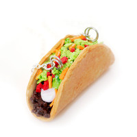 Beef Taco Necklace - Food Jewelry