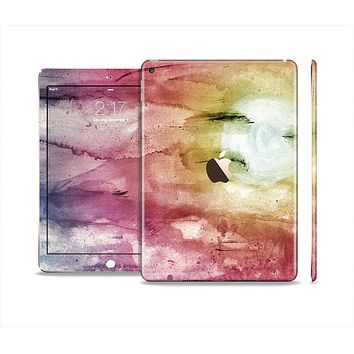 The Pink-Yellow-Blue Grunge Painted Surface Skin Set for the Apple iPad Air 2