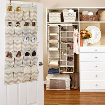 Tan Chevron Closet Collection