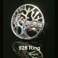 Tree of Life Ring | Beautiful 925 Sterling Silver Tree of Life Ring available in variety of sizes. Matching Tree of Life Necklace available