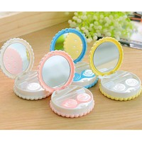 Sweet Cookies Biscuits Series Colored Contact Lenses Box & Case/Contact Lens Bag Promotional Gift Eyewear Cases