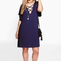 Plus Kim Strappy Front Swing Dress | Boohoo