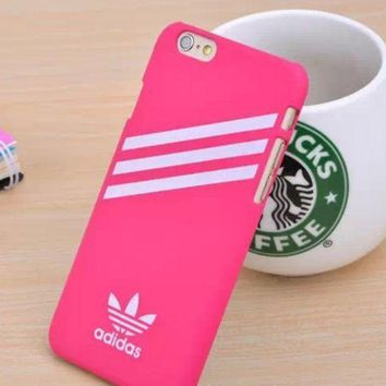 PEAPDQ7 Rose Red Adidas Print  Cover Case For Iphone 7 7plus & 6 6s Plus  + Gift Box
