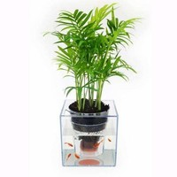 Tabletop Small Fish Tank Flowerpot