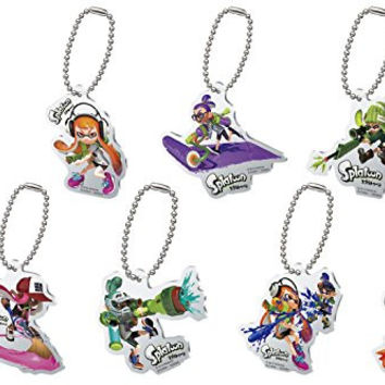 Gashapon Splatoon Inkling Acrylic Plate Swing Set