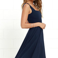 Course of Action Navy Blue High-Low Dress