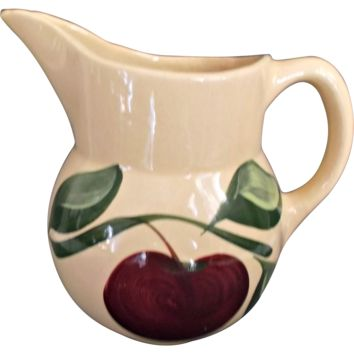 Watt Pottery Apple Pitcher 1952 - 1962 Vintage Farmhouse Kitchen Decor