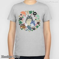 Totoro KIDS T-shirt Kawaii My Neighbor Anime Grey Manga Troll Hayao Miyazaki Studio Ghibli Gift Boy Girl Catbus Soot Tee Shirt Children