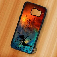 Pixie Dust Tinkerbell Quotes Nebula - Samsung Galaxy S7 S6 S5 Note 7 Cases & Covers