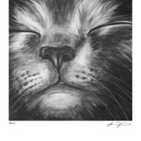 Cyber Monday Etsy Sale Russian Blue Gray Cat Print - Bliss