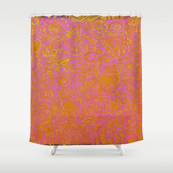 Mixx It Upp Shower Curtain by Ducky B