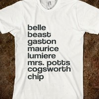 Beauty and The Beast Cast - hopealittle tee's