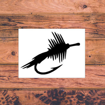 Fly Fishing Lure Decal | Fishing Decal | Country Fishing Decal | Fly Fishing | Fishing Lure | Country Girl Fishing | Man Decals  | 272