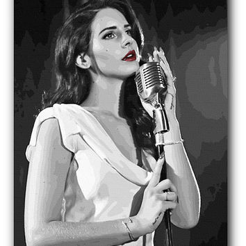 Lana Del Rey Art Print on Canvas or Poster