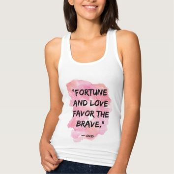 Quote Racerback Tank Top Fortune And Love