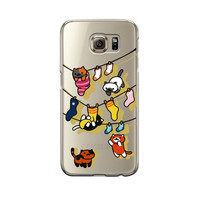 Copy of Super Cute Neko Atsume Hang On For Samsung Galaxy S6 S6 Edge S7 S7 Edge