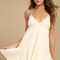 Billabong Sunshine Baby Cream Babydoll Dress