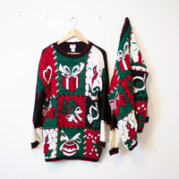 Vintage MATCHING Ugly Christmas Sweater