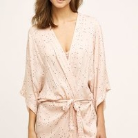 Underprotection Dotty Robe in Nude Size: