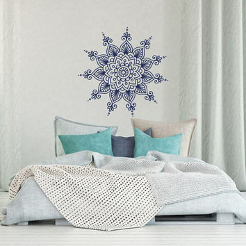 Mandala Wall Decal - Mandala Decal- Yoga Wall Decal- Yoga Studio Decor- Bohemian Boho Bedroom Decor- Ethnic Moroccan Mandala Wall Art #27