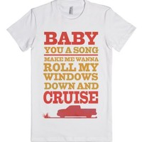 Baby You a Song-Female White T-Shirt