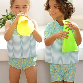 One-piece Girls Boys Buoyancy Vest Float Swimsuit Baby Toddler Kids Children Swimming Aid for Surfing Swimming Water Sport