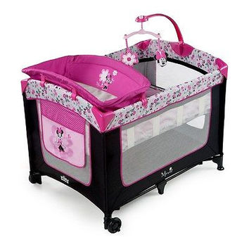 Disney Minnie Baby Portable Play Pen with Bassinet n Diaper Changer