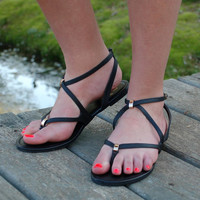 Step in the Dark Sandal- Black