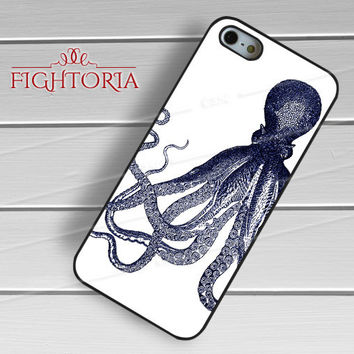 Vintage Octopus -snw for iPhone 6S case, iPhone 5s case, iPhone 6 case, iPhone 4S, Samsung S6 Edge