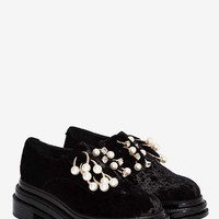 Jeffrey Campbell Jagger Velvet Oxford