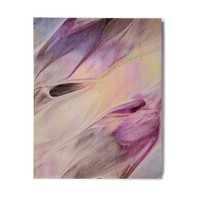 "Mmartabc ""Abstract Paint Strokes"" Multicolor Purple Digital Birchwood Wall Art"