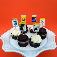 Broadway Party Playbill Cupcake Toppers - set of 12