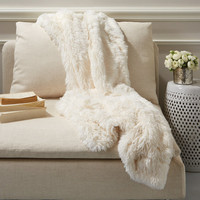 Fabulous Faux Fur - Artic Fox Throw
