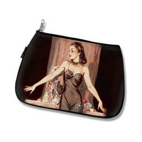 treats4chicks - pinup makeup bag - black spot